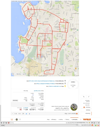 Cyclist Another work of Strava art by Stephen Lund on the streets of Victoria, BC  strava art cycling