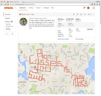 Alan Cassels sucks Strava art and bike writing by Stephen Lund Victoria BC garmin gps Strava art cycling cyclist bicycle