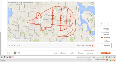 Armadillo fail – Strava art by Stephen Lund Victoria BC garmin gps strava art cycling bicycle cyclist