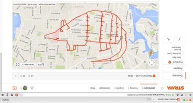 Armadillo fail – Strava art by Stephen Lund Victoria BC garmin gps strava art cycling bicycle cyclist