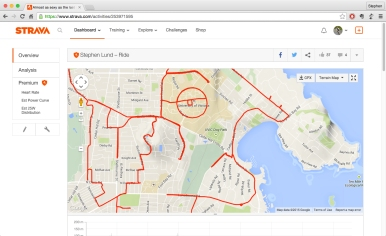 Wicked witch of the West Coast • Strava art by Stephen Lund on the streets of Victoria BC garmin gps strava art cycling cyclist bicycle gps-tracking