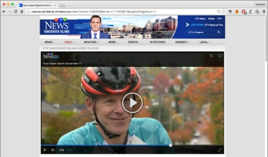 Stephen Lund, Victoria's GPS Doodler, interviewed on CTV News Vancouver Island on Remembrance Day 2015 • GPS art and bike-writing by Stephen Lund on the streets of Victoria BC garmin gps cycling cyclist bicycle TV Chandler Grieve Island MVP