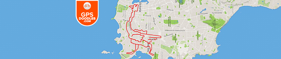 Ostrich by GPS artist Stephen Lund in Victoria, BC, Canada GPS Garmin Strava art cyclist cycling creativity animals birds wildlife ostrich