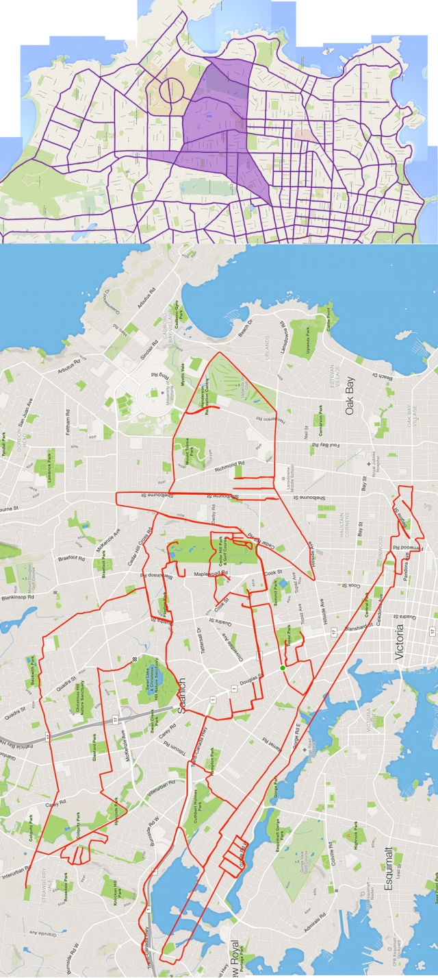 Gandalf the Grey Wizard by GPS artist Stephen Lund in Victoria, BC, Canada GPS Garmin Strava art cyclist cycling creativity Gandalf wizard JRR Tolkien fantasy